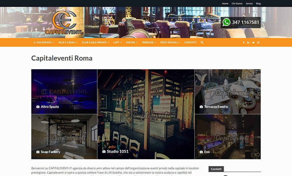Completed WordPress Project: Capitaleventi