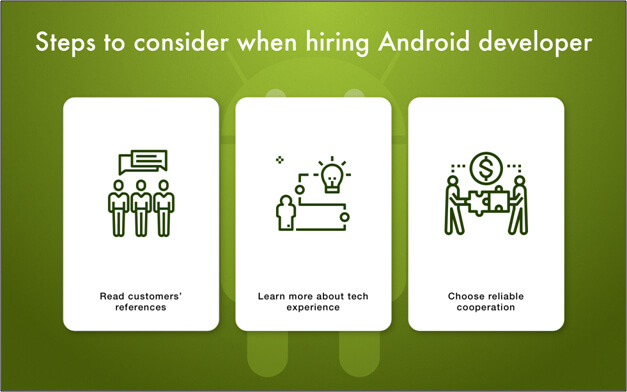 Steps to Consider While hiring Android Developers